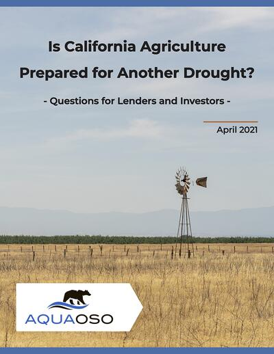 Are Agricultural Finance Institutions Prepared for Another Drought in California